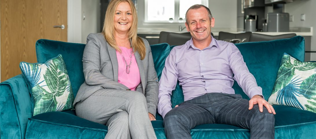 Pictured: Gary Miller, Managing Director, Millers of Carnoustie and Karen Nicoll, Managing Director of DJ Laing Homes.